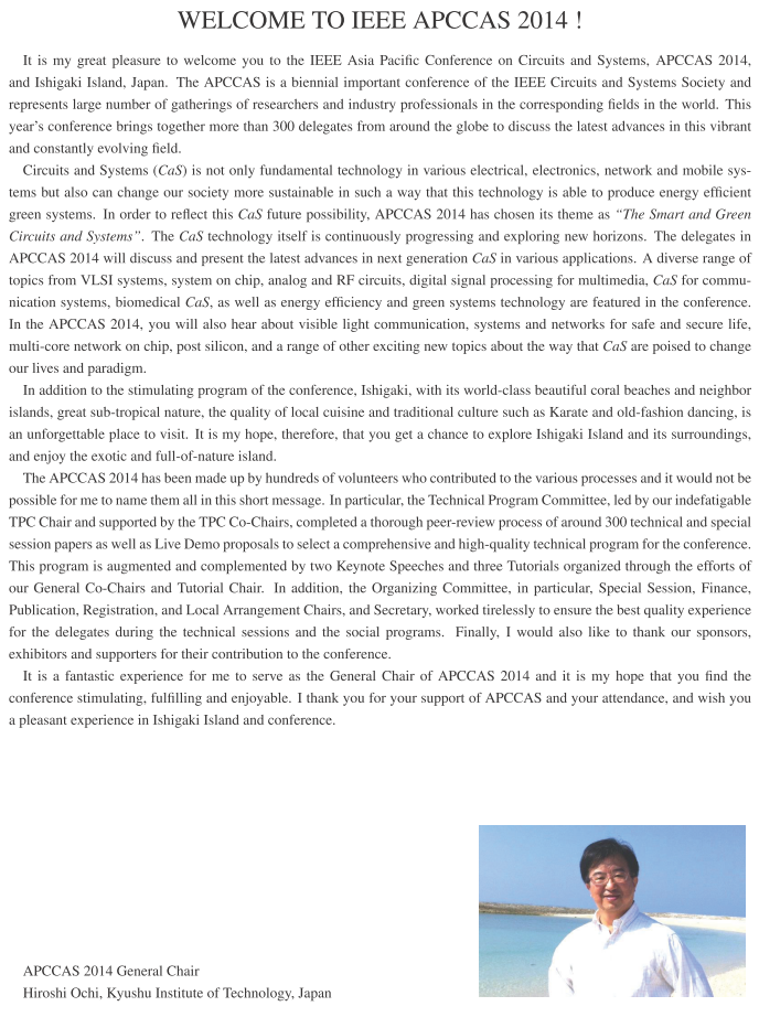 apccas2014 message from chairs